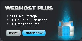 Webhost Executive Plan - 1500 Mb Storage - 25 Gb Bandwidth usage - 30 Email accounts